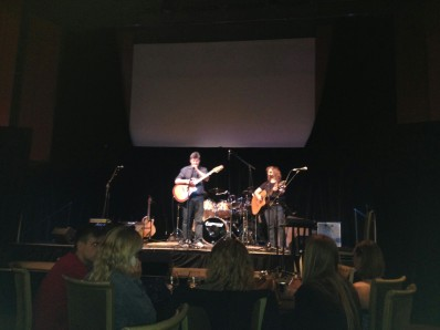Nonie Thompson and I performing